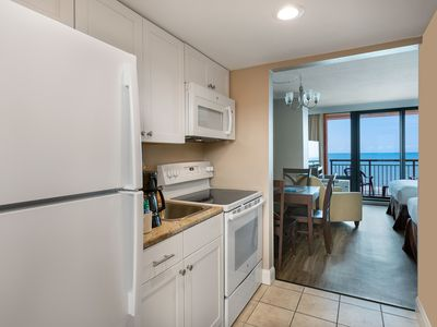 Photo for Oceanfront Efficiency w/ Fantastic View + Official On-Site Rental Privileges