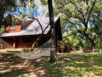 Photo for 1 Bed/1 Bath Log Cabin with excellent waterfront views and resort amenities