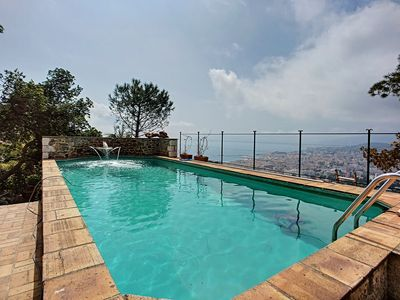 Photo for Exceptional villa with pool and panoramic sea views in Super Cannes