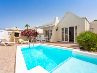 Photo for Villa Estrellas: Heated Private Pool, Walk to Beach, WiFi, Car Not Required