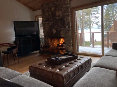 Cozy Natural Gas Fireplace.