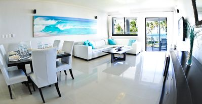 Dining - Living room with beachfront view!