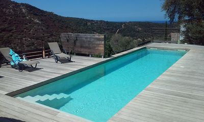 Photo for Architect villa surrounded by olive trees, sea view, beaches 3 km, air conditioning