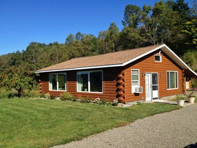 Cabin outside but with all conveniences inside.