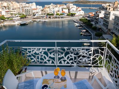 Photo for Above the lake, overlooking the picturesque lake of Agios Nikolaos