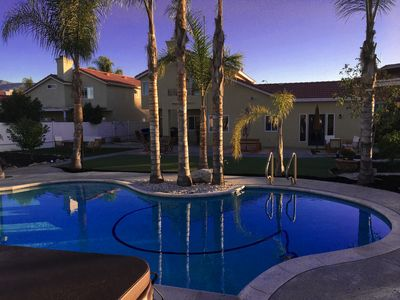 Photo for Amazing Parown Vacation Home in Wine Country - Pool/Spa, Fire Pit Huge Backyard