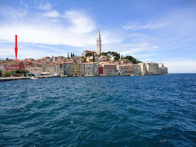 Photo for Rovinj Central Sea View Apartment 4 persons, historical city, open harbor view!