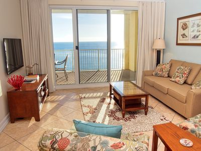 Photo for Endless Gulf View! Gulf Front, Fabulous Condo with Free Beach Service Chairs!