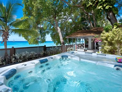 Photo for LA LUNE VILLA BARBADOS - Stunning beach house on Gibbs Beach with Jacuzzi