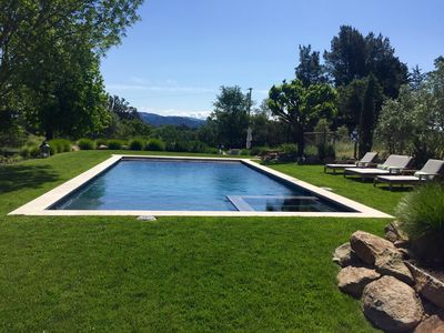 Pool and view - facing east