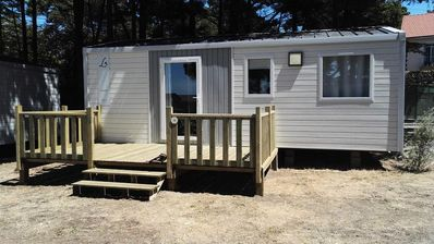 Photo for Camping Edge Seaside *** - Mobile home 3 Rooms 4 People sea view