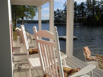 Porch and dock - 'Right on the Lake'