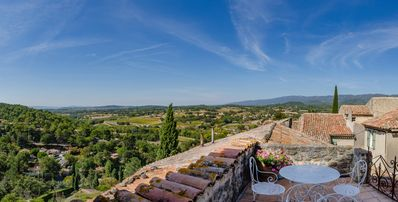 Panoramic view from the top terrace
