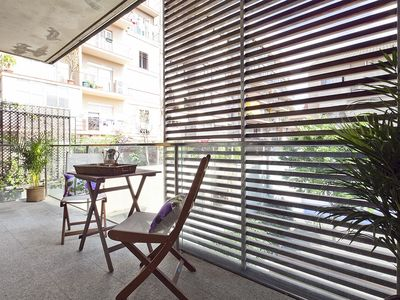 Photo for 3 hab Private terrace 6 pax in the center of Barcelona Free WiFi