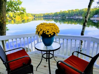 Photo for Waterfront home with breathtaking panoramic view of all sports lake