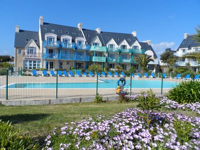 Photo for South Finistère Facing the beach with heated pool in family residence