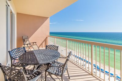 Dine al fresco with views of sun sand and surf
