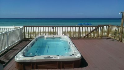Photo for Bella Casa - 5 Bdrm Directly on the Beach & Huge Swim Spa!