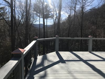 Your view walking up to the front deck in early winter!