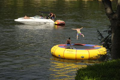 New to Dream Catcher, The Fun Zone: Large on-water trampoline & 21' FloatingMat!