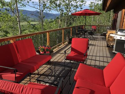Photo for Stunning Mtn.Views Overlooking Yampa Valley, Private Hot Tub, Pets Welcome
