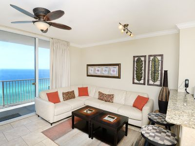 Photo for Elegant + welcoming gulf-front condo! Free DVD rentals! Minutes to Pier Park Shopping Center!