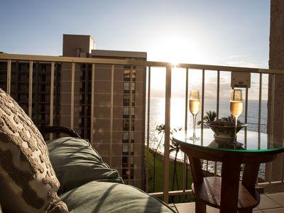Photo for Romantic 9th Fl. Ocean View Studio: Your Home on Maui with The Sounds of The Sea
