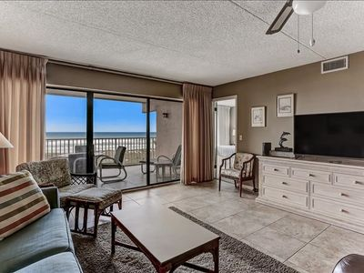 Photo for Pool, tennis and an Oceanview! 3rd floor, now allowing 3 night stays in June!  Sleeps 6.  Oceanfront balcony.