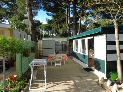 Photo for mobile home with awning all equipped with wood beach in re