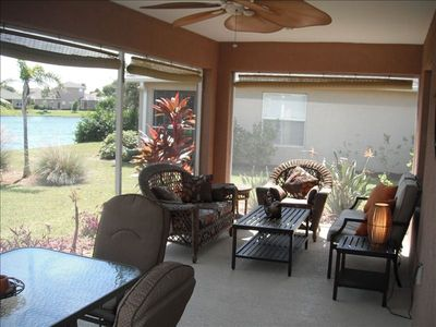 Our spacious Lanai is great for entertaining or just relaxing with friends.