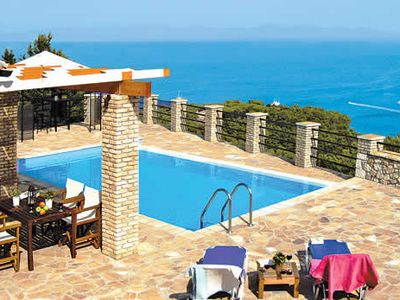 Photo for Charming 2 bedroom villa, short drive to Gaios, pool, A/C & Wi-Fi