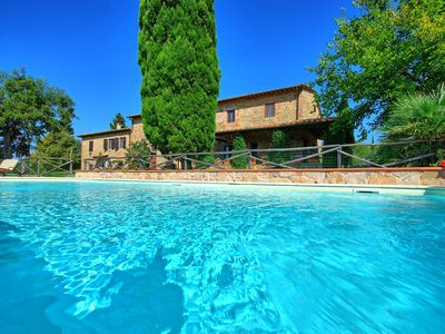 Photo for Private Villa with WIFI, private pool, TV, patio, washing machine, panoramic view, close to Florence