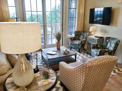 Photo for 'More Memories' - A Coastal Chic 30a Condo 20ft from Rosemary w/ Two King Beds!