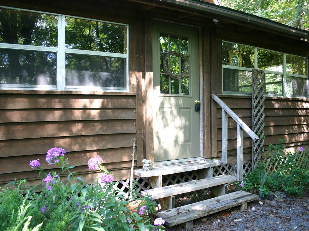 Enter Your Cabin Through Your Own Sunporch.