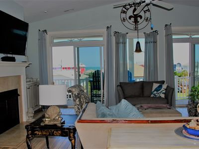 Photo for Luxury Single Family Home, Ocean Views, Spacious Porches, New Pool, Quiet Street