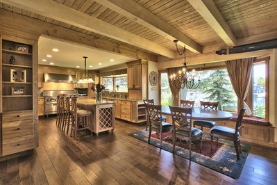 Large and open kitchen and dinning