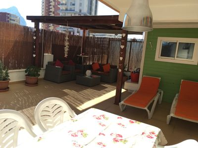 Photo for Lovely 1bedroom apartment sleeps 4 very large terrace very close to beaches