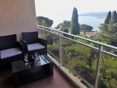 Photo for Le Lavandou Apartment, Sleeps 6 with Air Con and Free WiFi