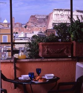 Photo for Small Apartment with Stunning View Over the Colosseum