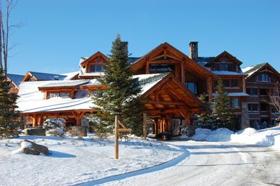 Front View of The Whiteface Lodge in the Winter