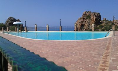 Photo for large home 2 bathrooms, 2 bedrooms, 2 kitchens, sea views, pool, sleeps 5.
