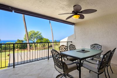 Ocean Views From Lanai with Outdoor Dining for Six
