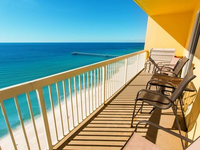 Photo for Magnificent beach views w/ shared pool, central location!