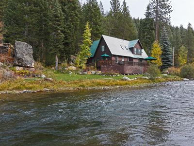 Photo for 3 BR Riverfront Retreat w/ Hot Tub, Minutes to Squaw
