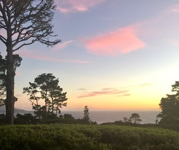 Sunset from the deck overlooking Point Lobos