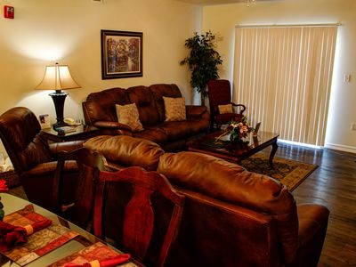 Photo for Incredible Smoky Mountain View, King Beds, Fireplace, Leather Furniture