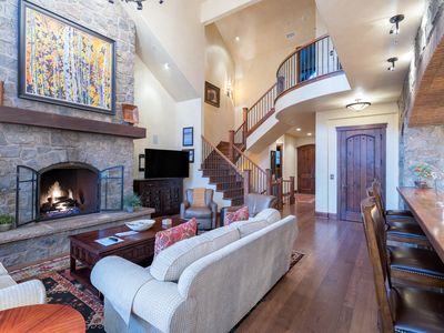 Photo for Absolutely stunning ski chalet with 5 bedrooms, 6.5 bath, hot tub, bunk room