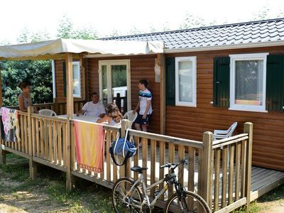 Photo for Camping des Albères **** - Fairy Mobile Home 4 Rooms 6/8 People