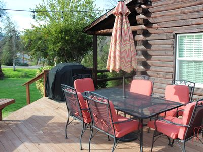 Photo for Log Cabin Living in the Sierra Western!
