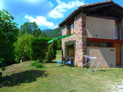 Photo for House for 2 persons with community pool near Olot surrounded by nature